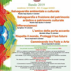 BANDI ARCI SERVIZIO CIVILE 2019
