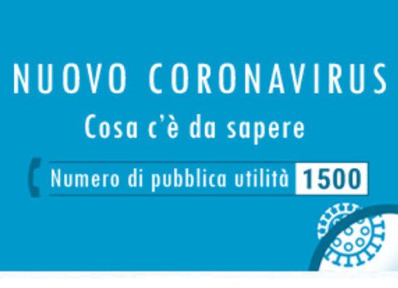 EMERGENZA CORONAVIRUS – UTILIZZO DEL NUMERO 1500