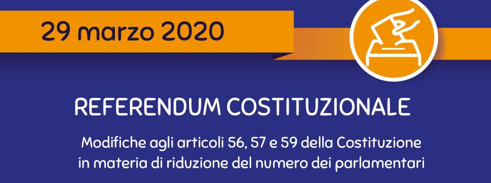 Referendum Costituzionale di Domenica 29 Marzo 2020 – Convocazione dei Comizi