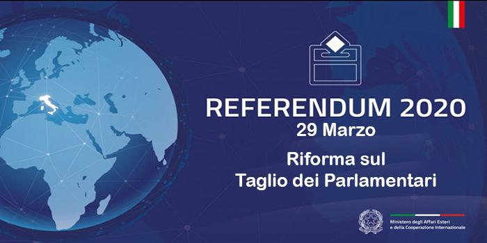 Opzione degli elettori residenti all'estero per l'esercizio del diritto di voto in Italia in occasione del Referendum Costituzionale ex art. 138 della Costituzione indetto per il 29 marzo 2020