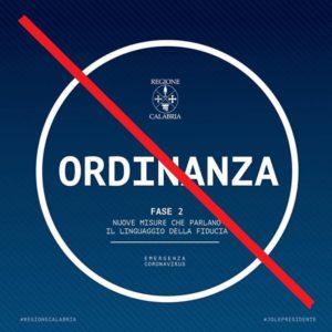 ORDINANZA N. 29 DEL 30.04.2020 – EMERGENZA COVID-19 – DISAPPLICAZIONE ORDINANZA REGIONALE N. 37/2020