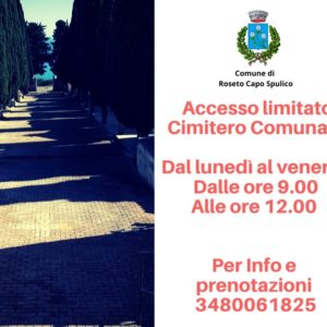 Accesso limitato al Cimitero Comunale
