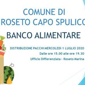 Distribuzione pacchi Banco Alimentare – Giugno 2020