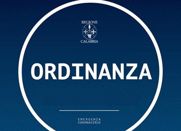 ORDINANZA REGIONE CALABRIA – N. 21 DEL 04 APRILE 2021