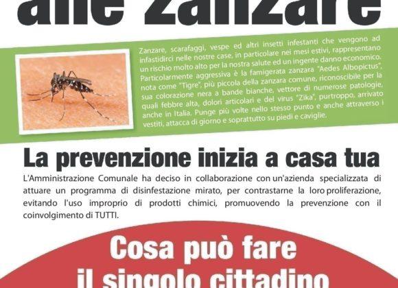 Avviso Disinfestazione zanzare – 8 Giugno 2021
