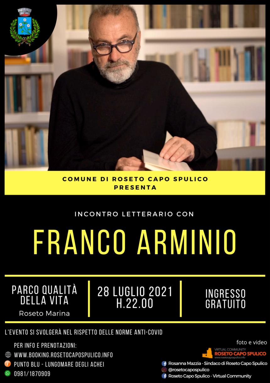 Incontro letterario con FRANCO ARMINIO